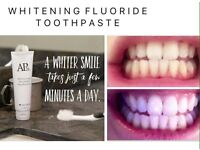 Whitening tooth paste!