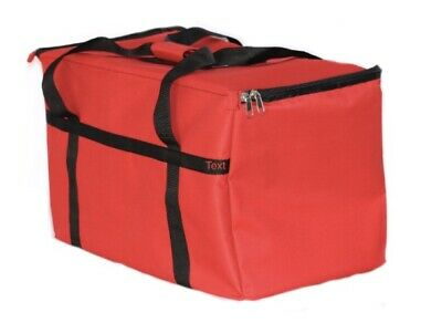 New Excellent Insulated Food Delivery Bag Pan Carrier Red Nylon 23x13x15