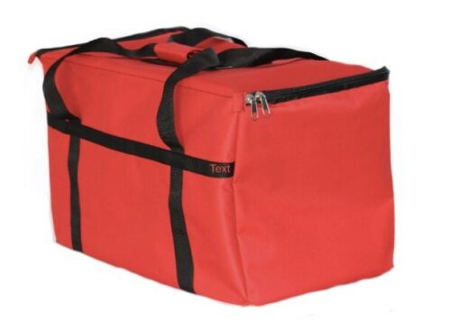 "New Excellent Insulated Food Delivery Bag, Pan Carrier Red Nylon ,23""x13""x15"""