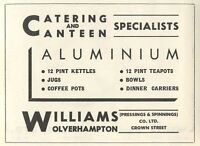 1953 Williams Crown Street Wolverhampton Kettles Ad - crown - ebay.co.uk