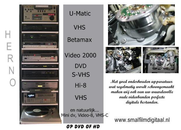 Smalfilm, video, audio, dia digitaliseren