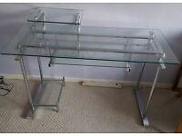 METROPOLITAN - Contemporary stylish glass computer desk