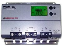 WRM-15 Western CO. LCD MPPT 15 A + 12/24 Vdc Nightlight function - Charge Controller