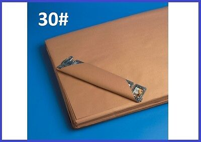 30 Wt Pre-cut Kraft Shipping Wrapping Paper Sheets - Case Qty. - 7 Sizes Avail.