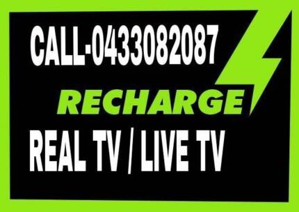REAL TV / LIVE TV RECHARGE / REMOTES/  NEW BOXES