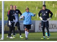 Goalkeeper coach looking to join team.