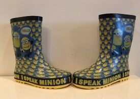 Minions welly boots child size 11