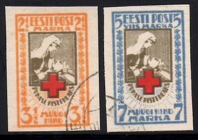 Estonia 1921 Red Cross SG.31/32  Imperf