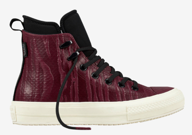 New Converse One Star Platform 558951C Dark Sangria Egret Velvet Shoes Plush Wom