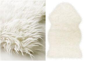 Faux animal skin rugs ebay for Ikea bear rug