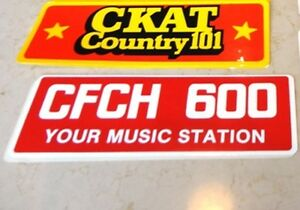 North Ontario Radio Station Bumper Stickers CKAT 101