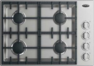 "DCS 30"" DROP-IN COOKTOP: 4 BURNER HALO Natural Gas, Stainless"