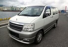 NISSAN ELGRAND E50 3.5 X V6 DOHC AUTOMATIC * 8 SEATER CAMPER ONLY 17568 MILES