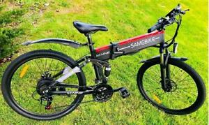 Weekly Promo! NEW 26  ALUMINUM ALLOY FOLDING   MOUNTAIN EBIKE, 26X6, 500W, Black $1599(was $2099)