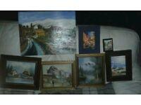 7 oil paintings