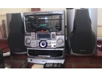 Sharp stereo and speakers