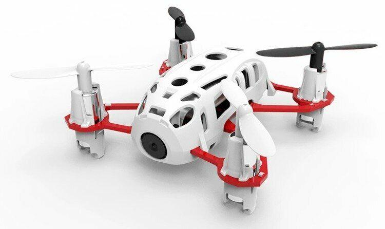Hubsan Nano Drone Q4 H111C Bianco e Rosso