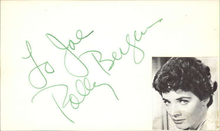 "Polly Bergen 2014 Actress Cry-Baby Signed 3"" x 5"" Index Card"