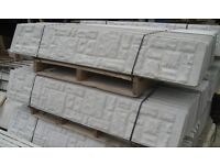 Concrete fence panels rock face ones can deliver free upto 10 miles