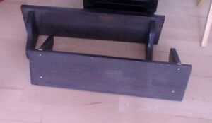 2 black (black-brown) wall-mounted shelves $ 8 for both