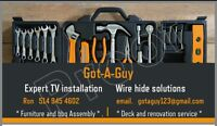 PROFESSIONAL FURNITURE ASSEMBLY & TV WALL MOUNT INSTALLATION