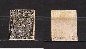 483-Antichi-Stati-Parma-15-cent-1852-Usato-Firmato