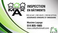 Inspection en bâtiments Certifié ANIEB 395$