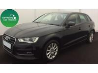 ONLY £223.70 PER MONTH BLACK 2013 AUDI A3 1.6 TDI SE SPORTSBACK DIESEL MANUAL
