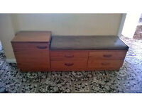 Teak Telephone Table & Couch