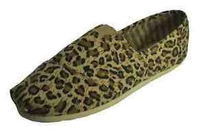 Womens-Canvas-Leopard-Shoes-flat-Espadrilles-Casual-slip-on-Shoes