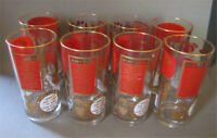 Eight Excellent Vintage HIBALL Glasses With Drink Recipes Peterborough Peterborough Area Preview