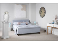 Details about Superking Hazel bed in ice blue