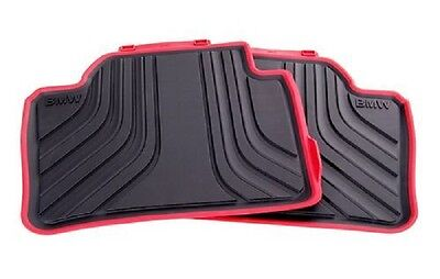 BMW Genuine All Weather Rubber Rear Car Floor Mats Sport F30F31 51472219803