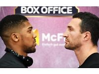 anthony joshua vs wladimir klitschko tickets wembley