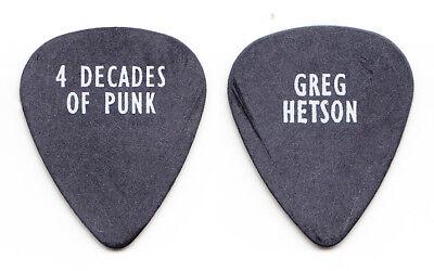 Bad Religion Greg Hetson 4 Decades Of Punk Black Guitar Pick - 2001 Tour