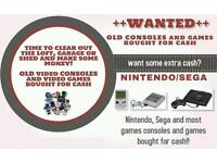 Cash paid for Nintendo, sega, playstation 1 consoles and games