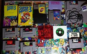 SNES, NES, and GC Games