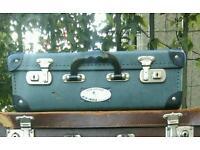 Vintage blue Air India suitcase