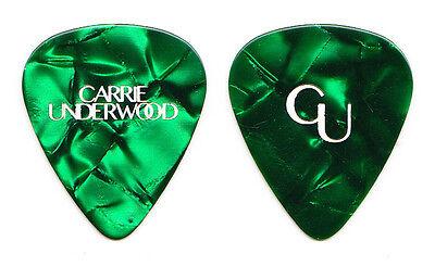 Carrie Underwood Green Pearl Guitar Pick - 2016 Storyteller Tour