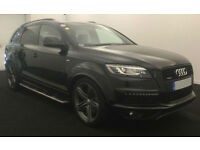 Black AUDI Q7 3.0 TDI Diesel QUATTRO S LINE Plus FROM £129 PER WEEK!