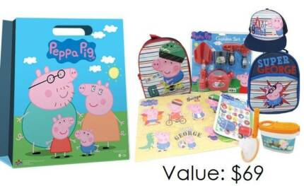 Peppa Pig George Showbag(backpack,cooler bag,puzzle,cap,stamp,etc Redcliffe Belmont Area Preview