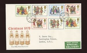 1978-Christmas-ROYAL-COURT-Post-Office-with-BUCKINGHAM-PALACE-CDS-FDC