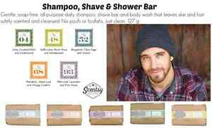 Scentsy shampoo, shave and shower bar for men