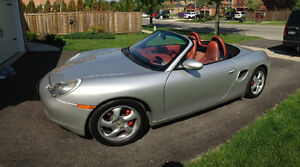 2002 Porsche Boxster S Silver and Red interior Convertible