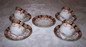 Royal Albert Crown Pattern 6145 and Cups and Saucers