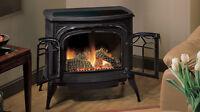 Cast Iron Gas Fireplace - Foyer au Gaz