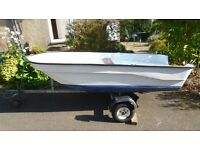 10ft GRP dinghy with road trailer