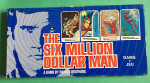 Six Million Dollar Man Board Game 1975 Parker Brothers