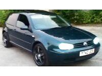 """2001 vw golf 1.4 t&t low miles 18"""" alloys tints hids clean car"""