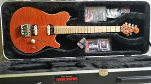 Like New Ernie Ball MusicMan Axis Guitar+CoA+Case---EVH D-Tuna